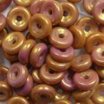 wheel beads 03000-14497 chalk white copper-red luster