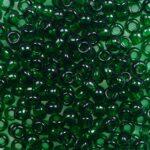 tr-08-0939 toho round 8-0 transparent green emerald