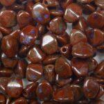 PI-99991-86800 pinch beads 5×3 dark oxblood picasso