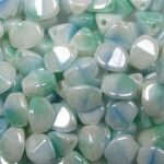PI-99996-14400 pinch beads 5×3 mixed blue white green luster