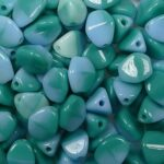 PI-x2142 pinch beads 5×3 mixed greens