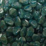 PI-x2144 pinch beads 5×3 aqua picasso melee
