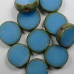 0090417 table cut round 12 mm blue travertin