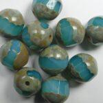 0100543 12 mm special cut apple firepolish opal green aqua travertin