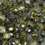 FP1-04-00030-26441 firepolish 4 mm Crystal half Gold