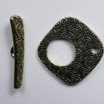 TC94-6145-26 tierracast toggle clasp large spiral antique gold plated