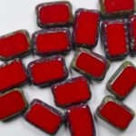 0050294 rectangle 12×8 mm opaque red travertin