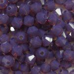 PRBic-04-AMYOP preciosa bicones 4 mm amethyst opal