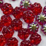 0050296 daisy discs 9 mm siam ruby ab kleurnummer X90080