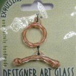TGL-01-HY-WH glass toggle clasp hyacinth-white swirl