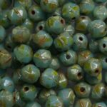 EC-04-63020-86805 english cut 4 mm opaque blue turquoise picasso