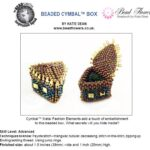 free beaded cymbal box met rocailles 8-0