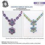 free chevron gemduo necklace met chevron of gemduo