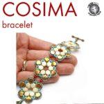 free cosima bracelet met honeycomb of ginko