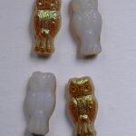 owl-01000-98532 owl beads white opal brown rainbow