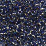 tr-08-0997 toho rounds 8-0 gold lined rainbow light sapphire