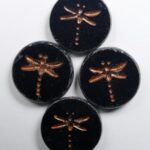 0010508 dragonfly beads 17 mm Jet Picasso copper Washed color 23980-86800-54319