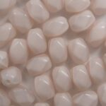 0070447 czech glass facetted barrel 6×4 mm light pink silk color 74000