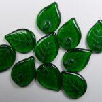 0100557 blaadjes, leaves 18×13 mm bottle green color 50150