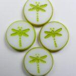 0140263 dragonfly beads 17 mm white alabaster velvet lemongrass color 02010-29535
