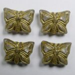0150188 Crystal Gold Patina Butterfly Beads 15×12 mm kleur 00030-54302