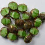 0100559 Light Green Silk Rose Gold Bronze Special Cut Lamel Facet 9 mm color 54000-91434