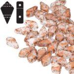 KT-03000-94412 kite beads chalk white copper splash