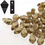 KT-10230-94401 kite beads Smoked topaz gold splash