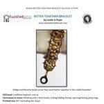 better together bracelet met ginko, bridge of navette beads