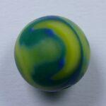 Pol-r12z-blgrm polaris round 12 mm zebra blauw groen melee