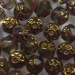 0020313 black diamond copper cathedral beads color 40020-14415