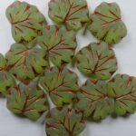 MPL-50220-54319-84100 Matte Olivine Copper Inlay Maple Leaf