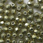 fp1-03-08A05 firepolish 3 mm ColorTrends Sueded Gold Cloud Dream