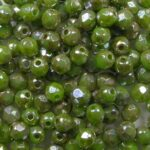 FP1-03-53200-43400 Opaque Spring Green Silver Picasso facet 3 mm