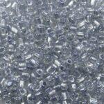 M-TRI-10-1105 Miyuki Triangle 10-0 Sparkling Pale Grey Lined Crystal kleurnummer 1105